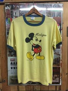 T-Shirt Ringer Mickey Mouse 50/50