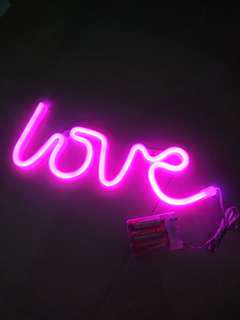 Brand new LED Neon style love shaped lighting decor.