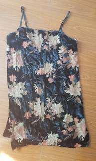 Floral Velvet Mini Dress