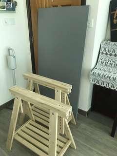 $100,Ikea枱板連木架,粉嶺自取,純粹想搵個有心人收留佢地