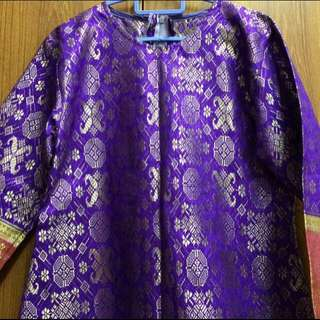 Purple Songket Top
