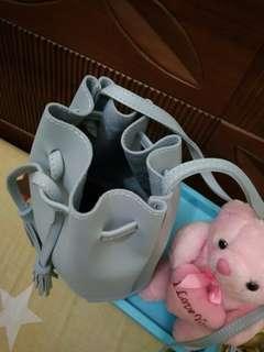 Icy Blue Bucket Bag
