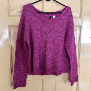 H&M Purple Knit Sweater #JulyPayDay