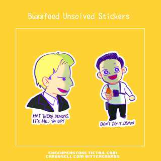 🚚 Buzzfeed Unsolved stickers 2.0