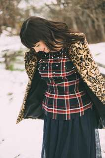H&M Plaid with Pearls
