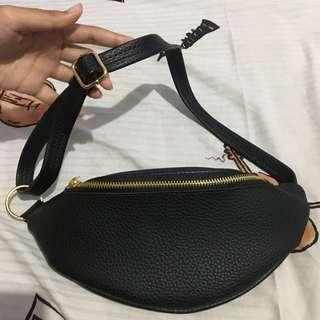 Waistbag Black Premium Leather