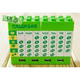 🚚 免運!! 現貨 多功能樂高創意積木DIY月曆USB分享器 USB擴充器 附贈USB充電線