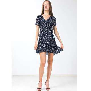Ninth collective safina ruffled dress in navy blue Size : XS BNWT