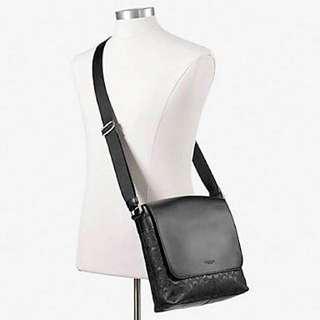 New Authentic Coach Messenger Bag Grey