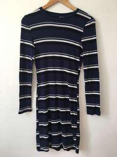 H&M Blue Striped Dress
