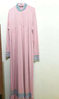 Gamis Jersey Baby Pink
