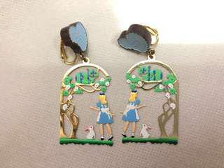 N2 mushroom Alice 愛麗絲 耳環 earring