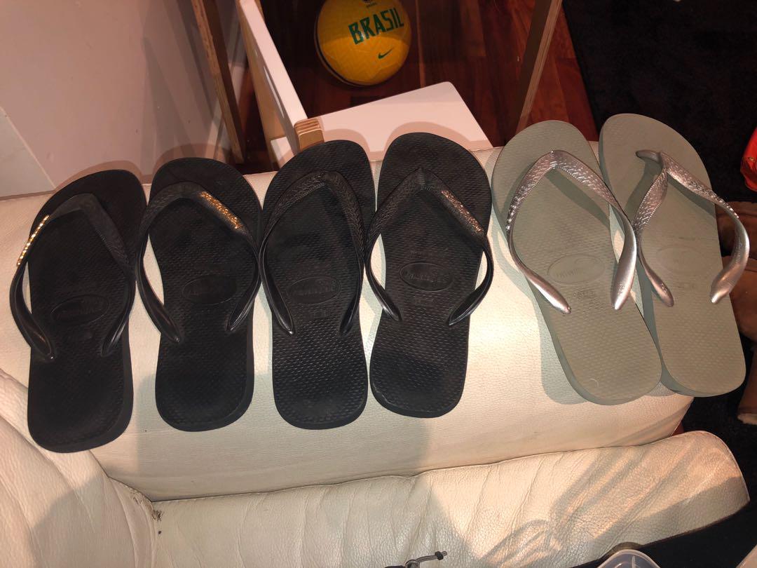 3 pairs of havianas