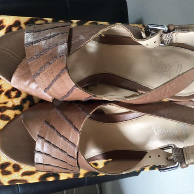 🆕 Wittner Leather Platform Shoes Size 6.5 Or 37