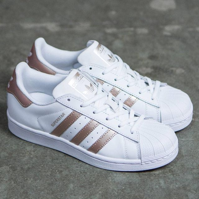 Adidas Superstar Rose Gold, Women's Fashion,