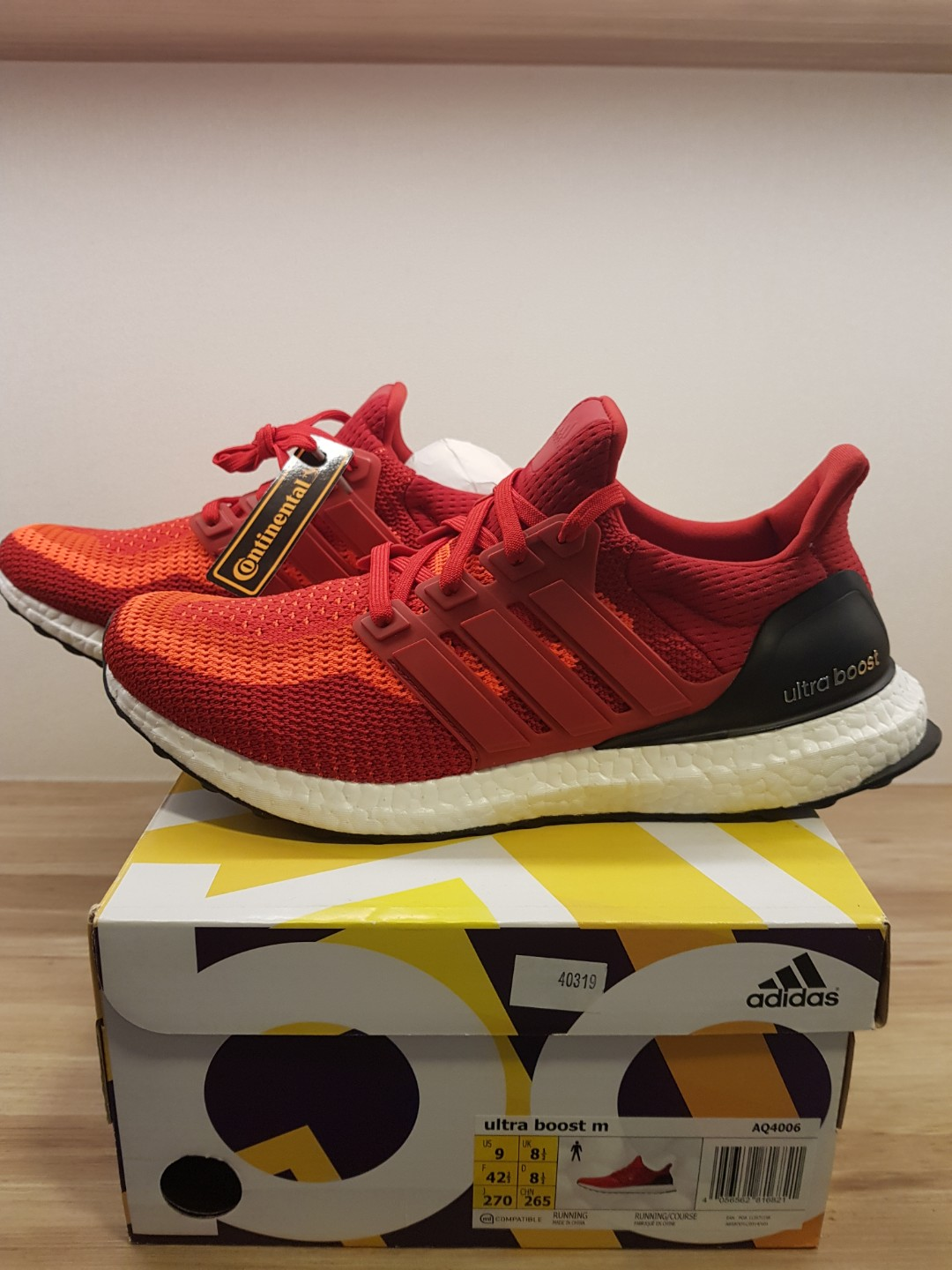 76060a7a7f9ee ... closeout adidas ultra boost m red mens fashion footwear sneakers on  carousell 4e677 c1aa6