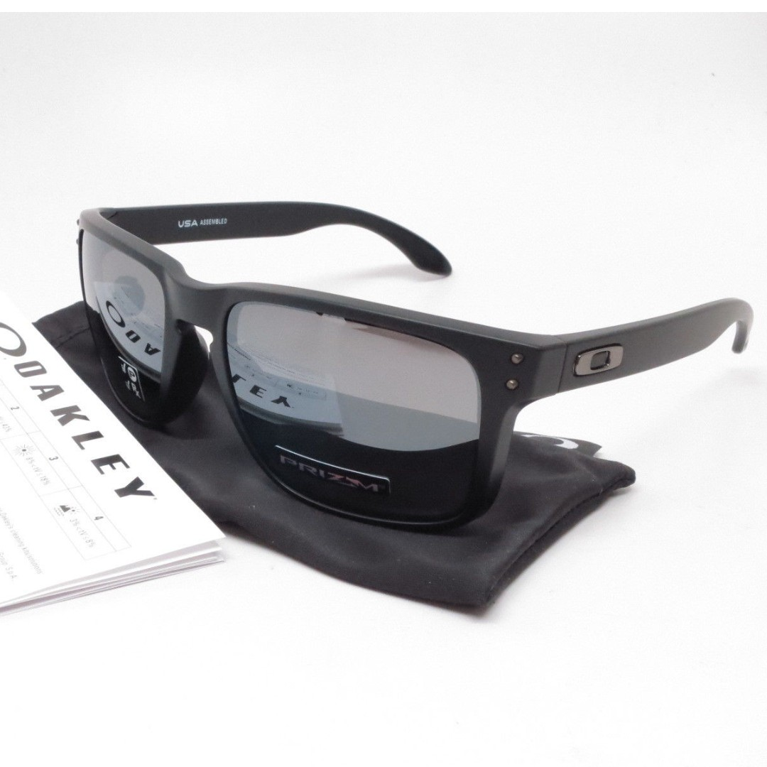 ff4ed2aa8a Authentic Brand New in Box Oakley Holbrook XL OO9417-0559 Matte Black with  Prizm Black Polarized Lens