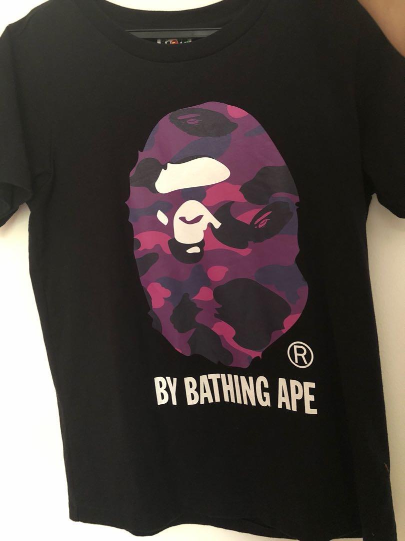 1c2ffc1f Bape purple camo t-shirt Ladies S, Women's Fashion, Clothes, Tops on ...