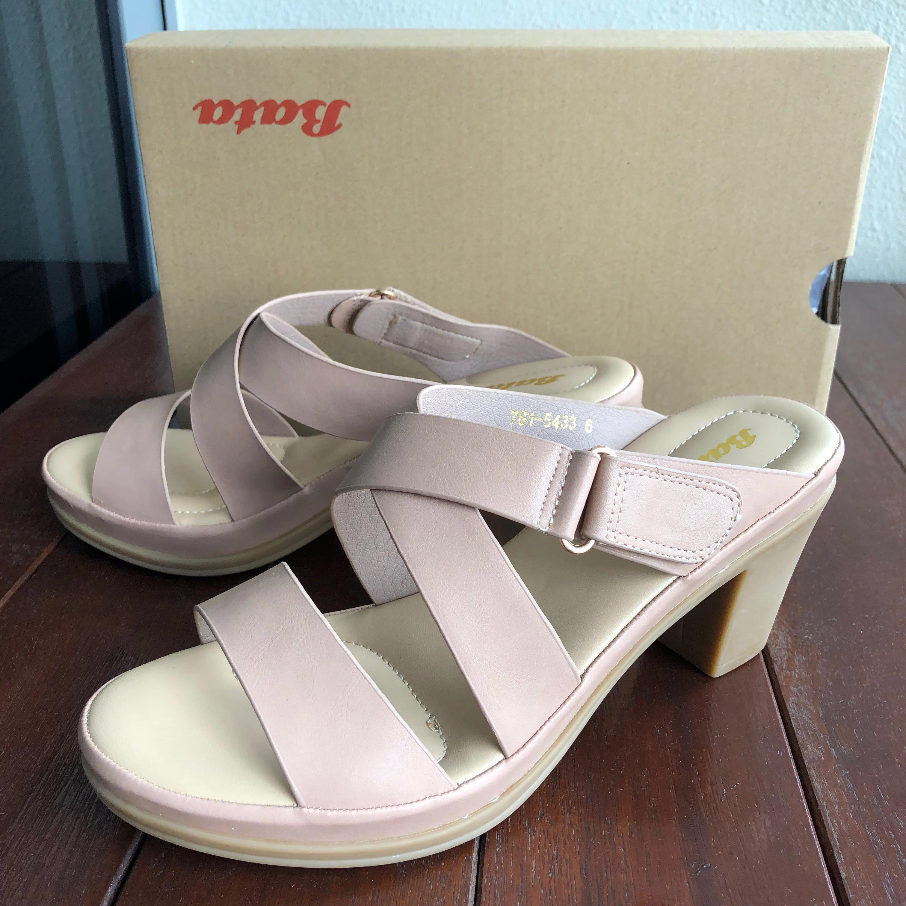 6c86b8995438 BN Bata Ladies Heels Sandals Blush