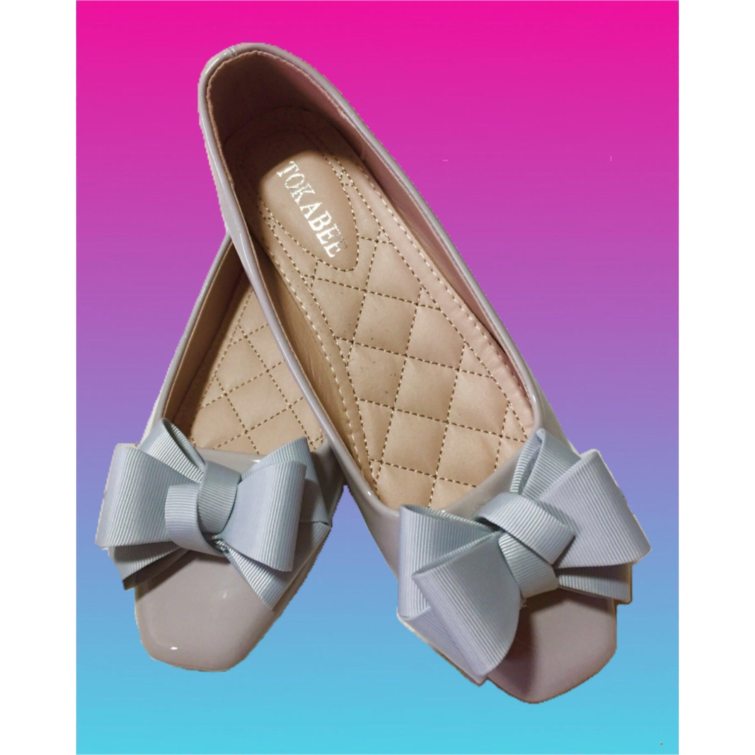 bcfa0e4b9355 ✨BNIB Korean Sweet Ribbon Shoes Flats Size 37  CarouPay