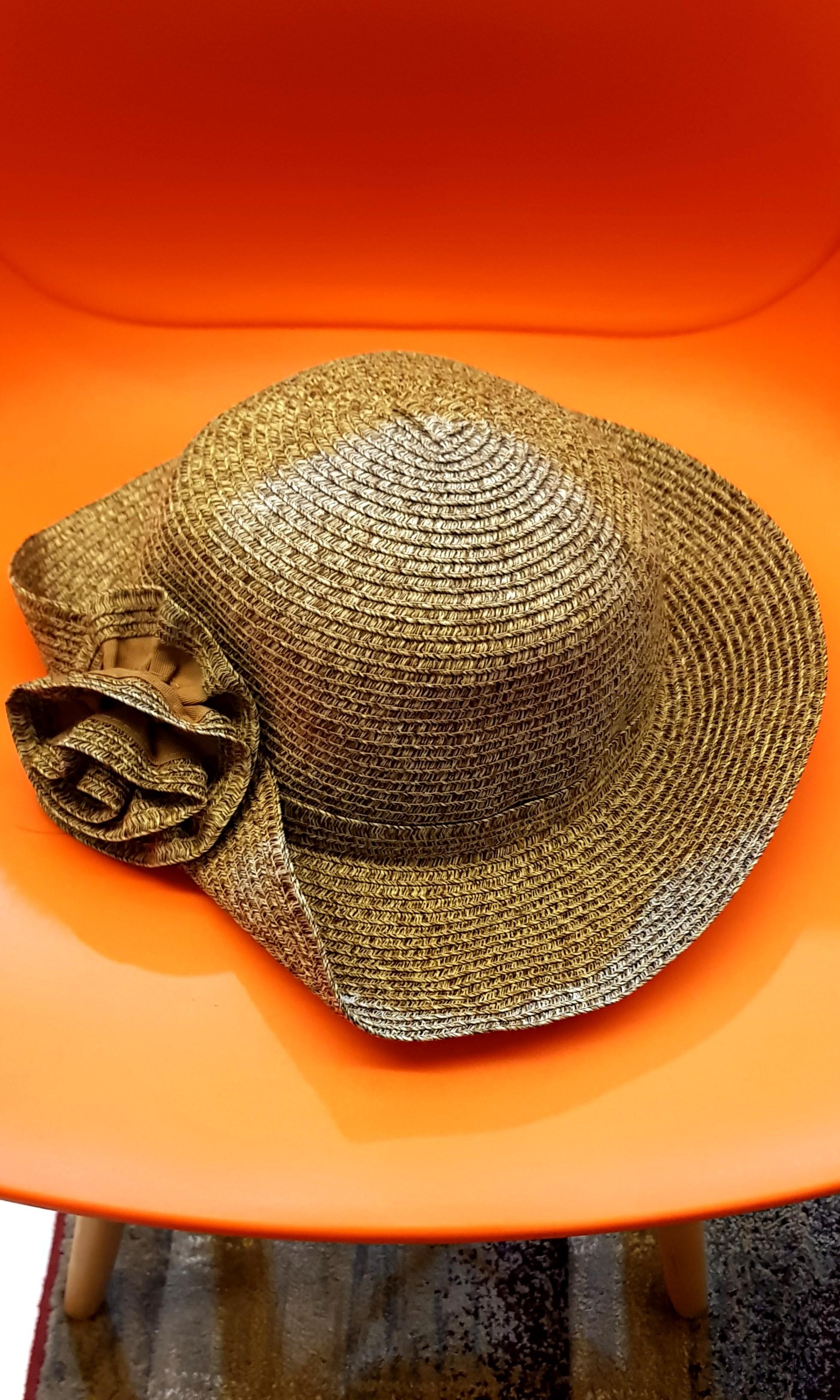 520da094 Brown Korean summer hat bought in Taipei last week - made in Korea ...