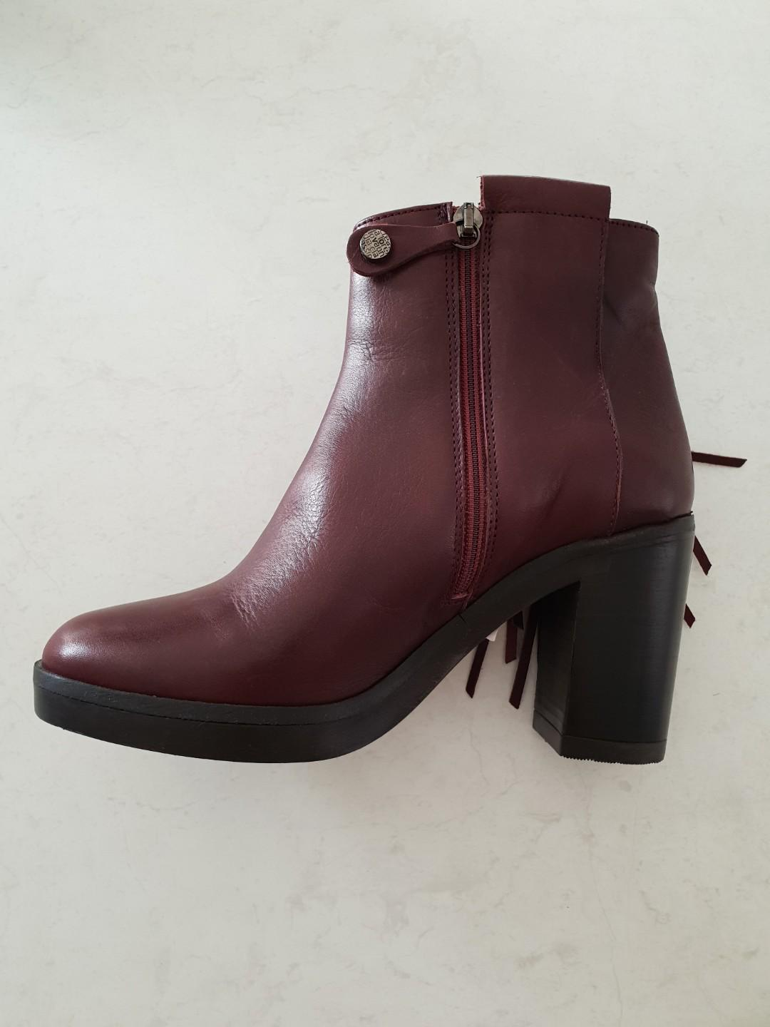 BURGUNDY BOOTS | SIZE 36