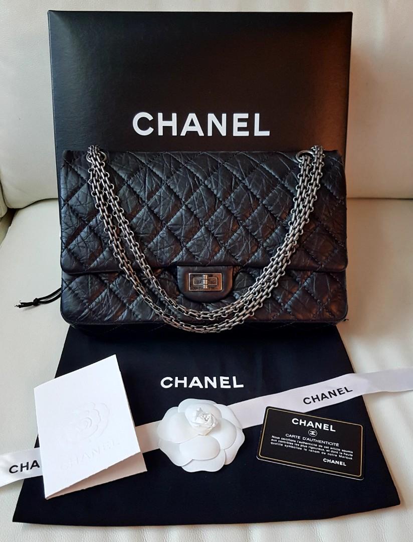59631f6d0803 CHANEL LARGE 2.55 HANDBAG, Luxury, Bags & Wallets, Handbags on Carousell