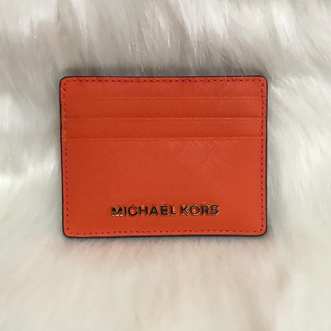 more photos 3b624 e7622 CLEARANCE SALE! MK Michael Kors Saffiano Leather Card Holder Card ...