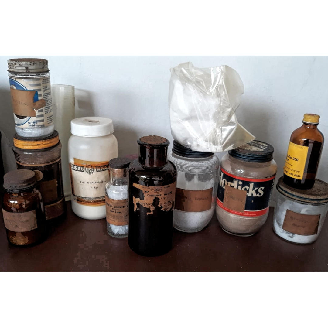 """Darkroom Chemicals + Free Box of 10"""" x 12"""" Photo Paper (abt 30 sheets)"""