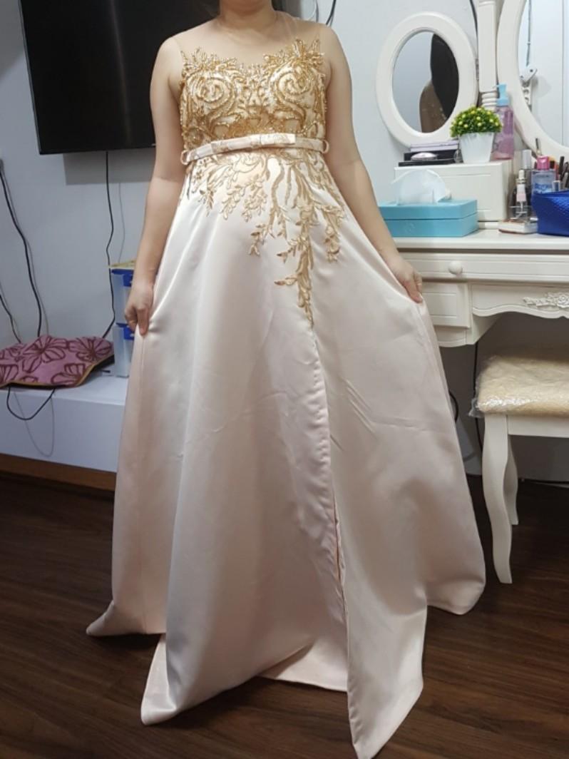 Dress Pesta Ibu Hamil Fesyen Wanita Pakaian Wanita Gaun Rok Di