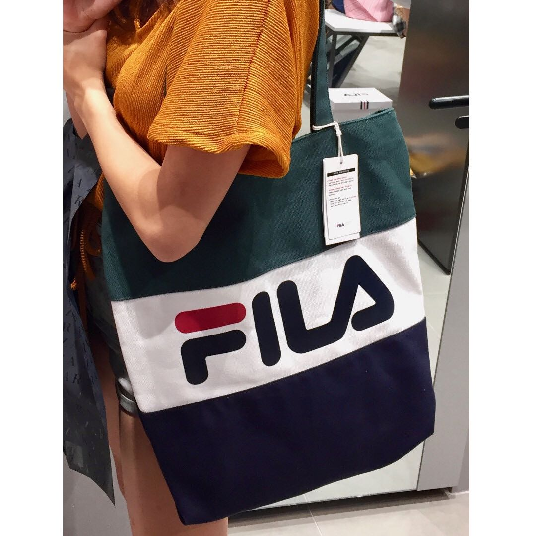 384faa8c5e5 Fila Eco Tote Bag (Authentic from Korea) Green White Blue, Women s ...