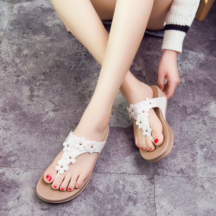 30c325c4e447 Floral Thick Platform Sandals fitflop wedge flip flop women woman ...