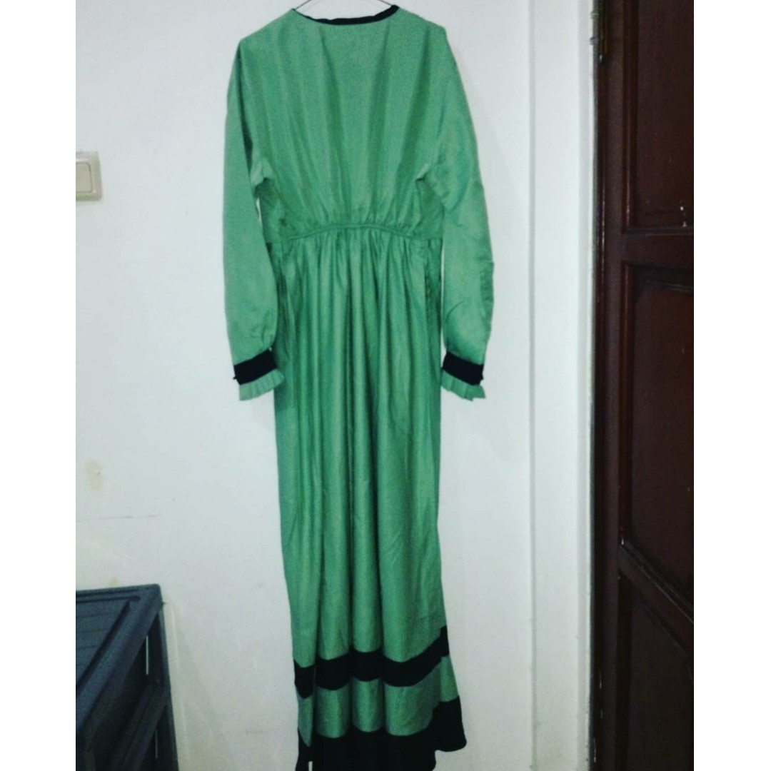 Gamis Warna Hijau Mint 1 Set Olshop Fashion Olshop Muslim