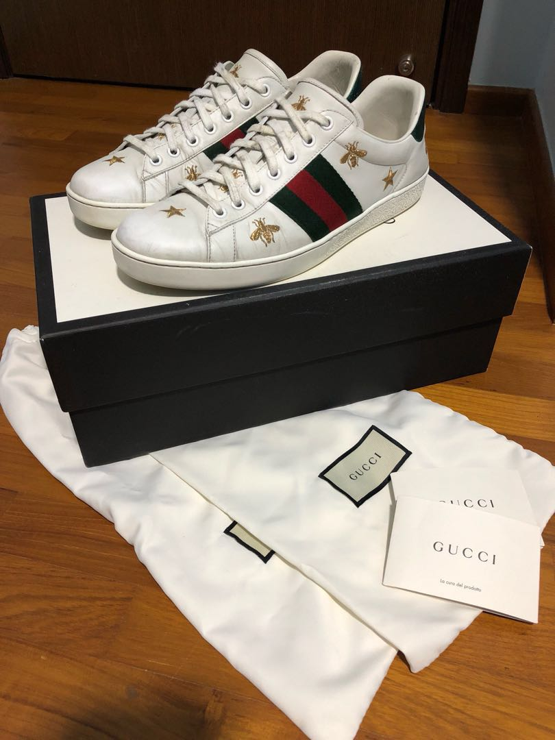 d74302ef5 Gucci Ace Bee & Stars, Men's Fashion, Footwear, Sneakers on Carousell