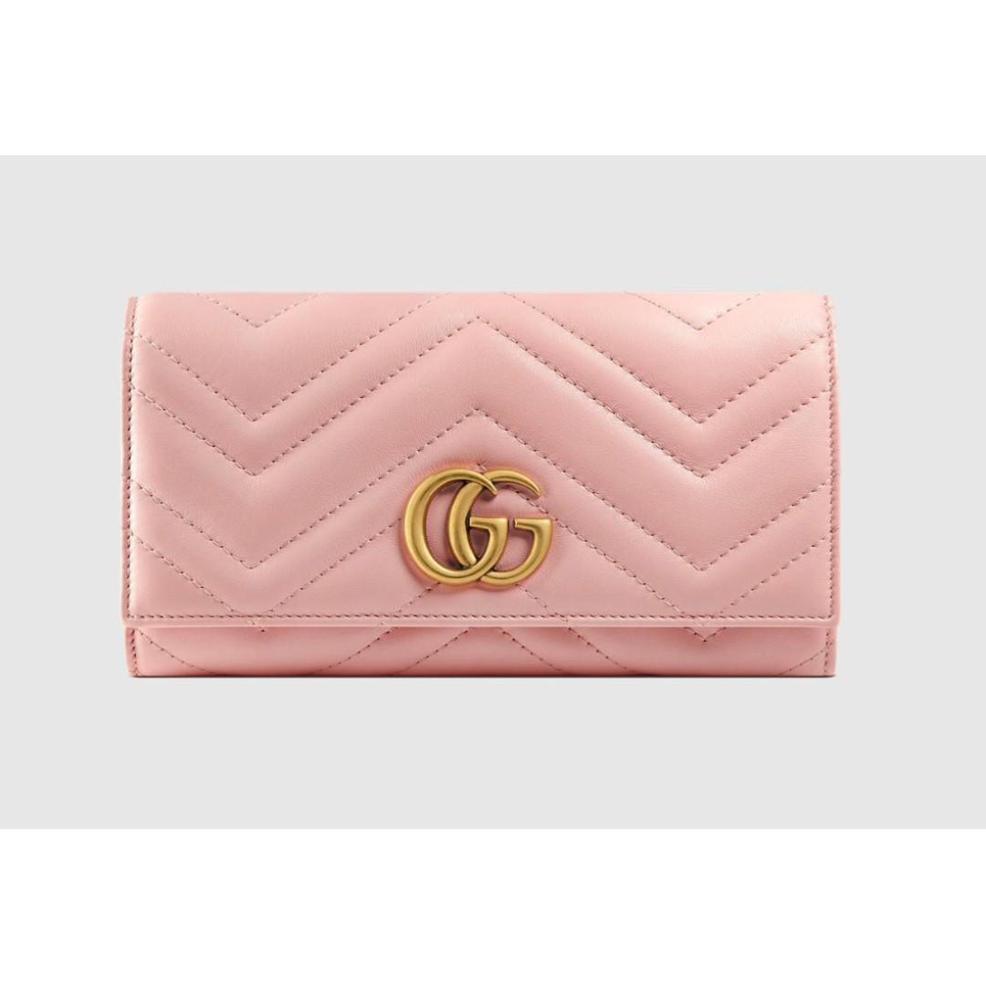 1e30d5b8b18 Gucci GG Marmont continental wallet Pink