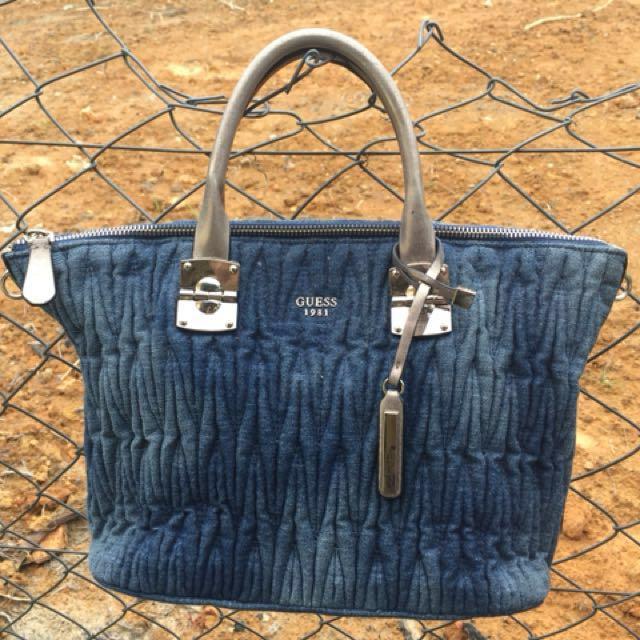 Guess Denim Handbag Original f6682e7915bad