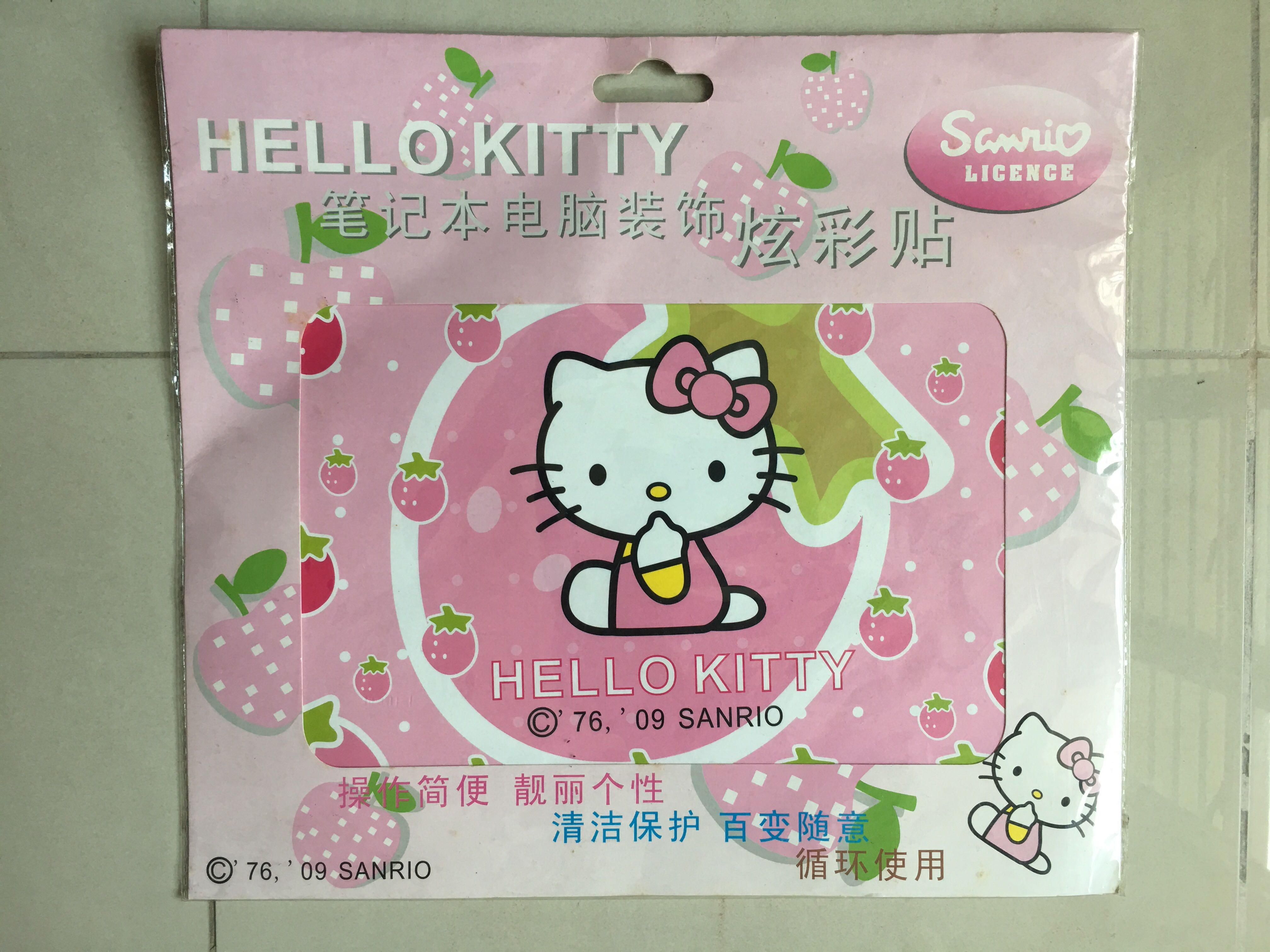 68182f8f7 Hello kitty laptop TOP sticker, Books & Stationery, Stationery on ...