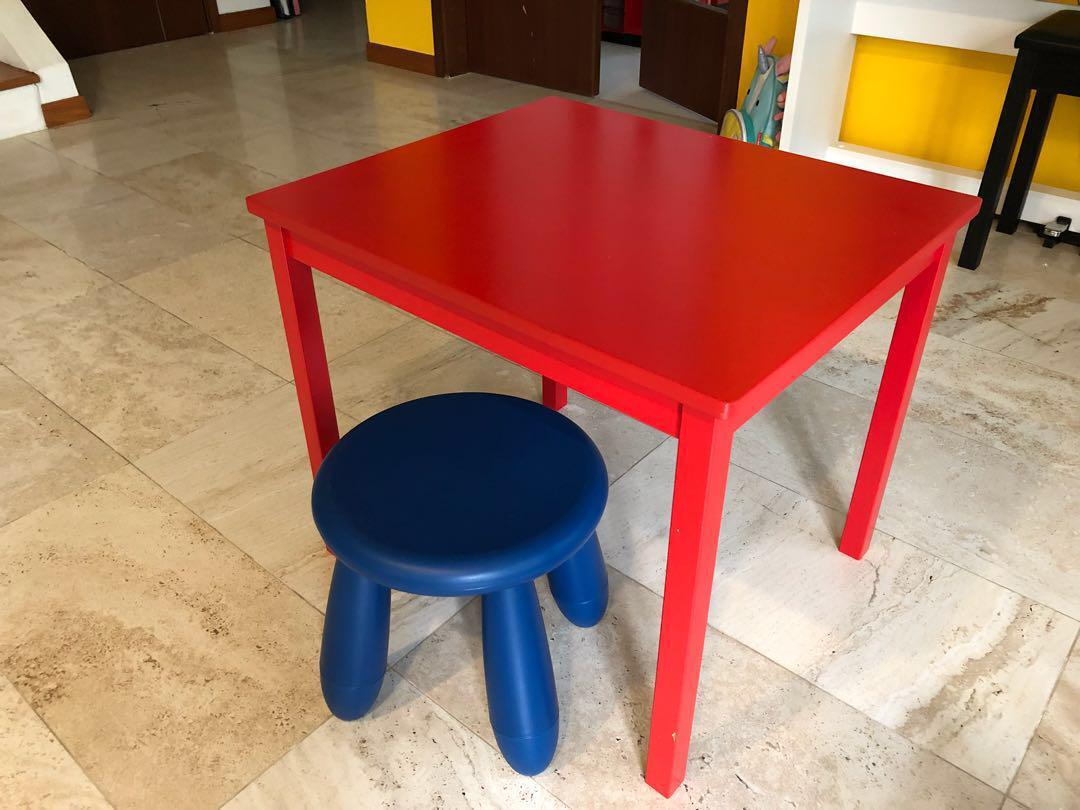 Swell Ikea Kids Table And Stool Furniture Tables Chairs On Creativecarmelina Interior Chair Design Creativecarmelinacom