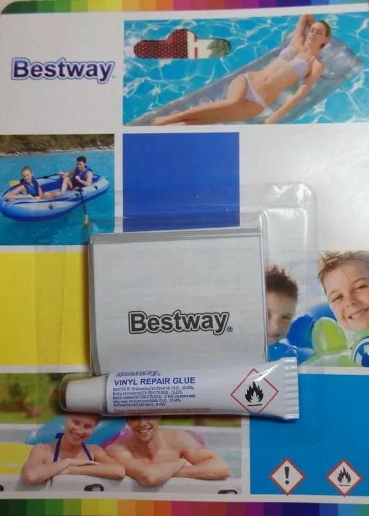 Bestway lem penambal ban renang kolam pelampung - repair kit TERSEGEL, Babies & Kids, Others on Carousell