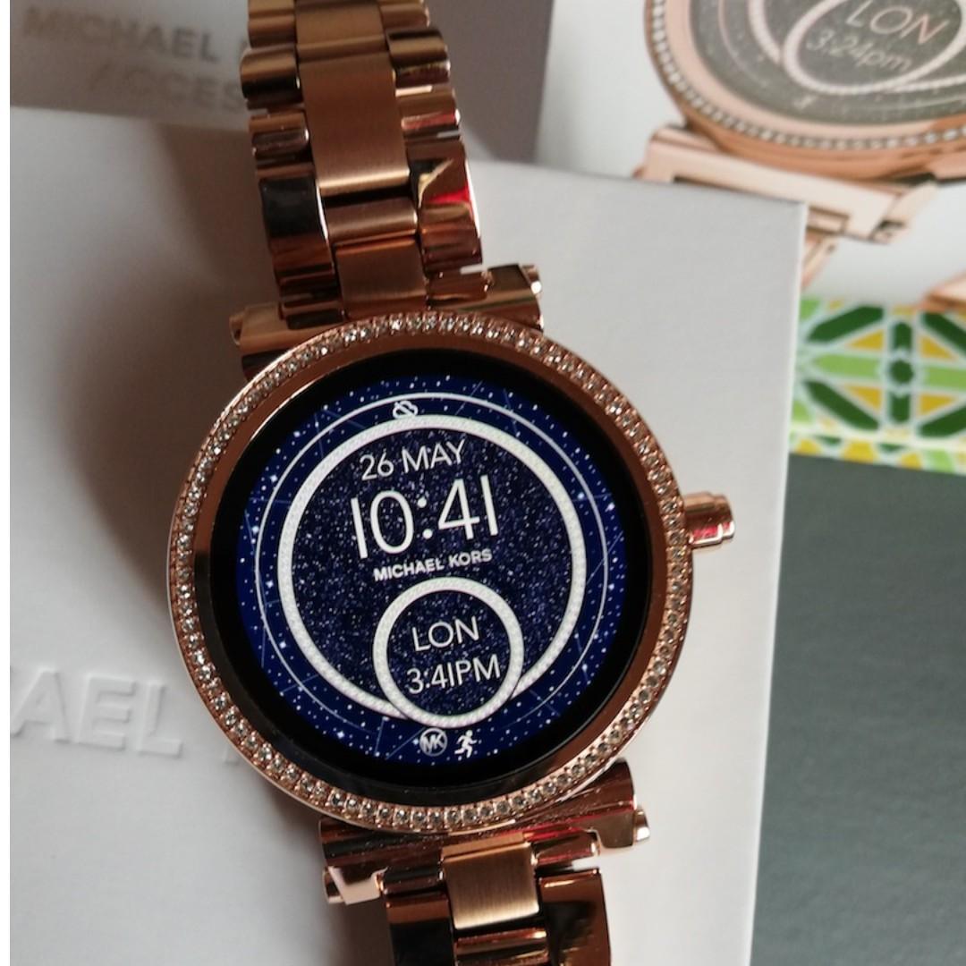 Michael Kors Smart Watch Access Mkt5022 Sofie Bracelet In Rose Gold