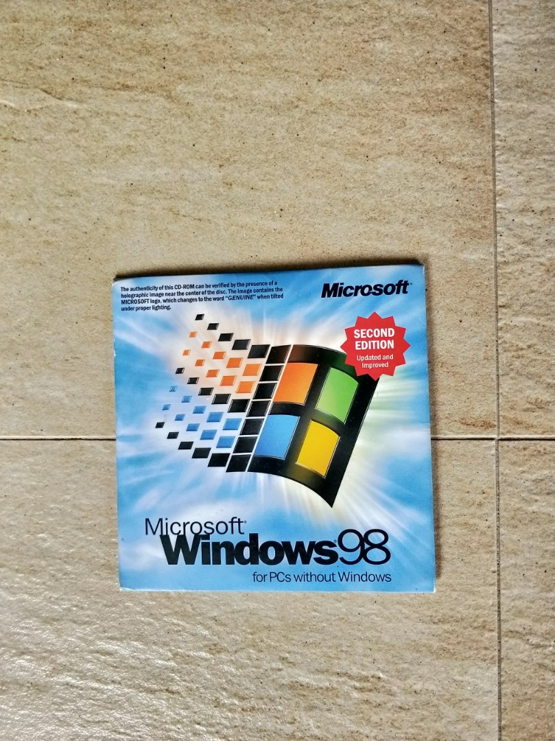 Microsoft Windows 98 License (Genuine)