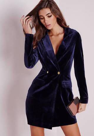 Missguided Velvet Blazer Dress