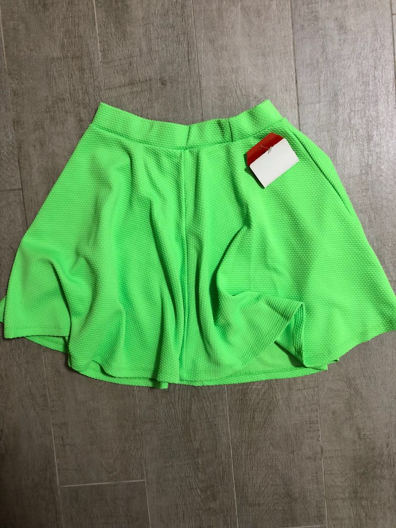 5680470b90 Neon green skater skirt