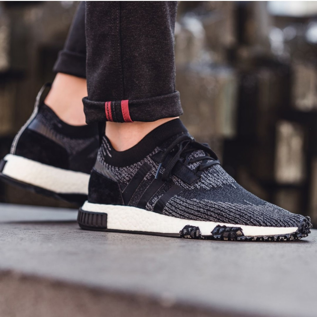 PO) Adidas Mens NMD Racer PK Black, Men's Fashion, Footwear