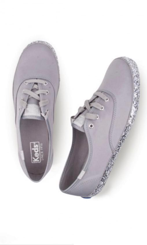 7c963e7a796b7 Preloved KEDS Champion Glitter Foxing in Grey US 6