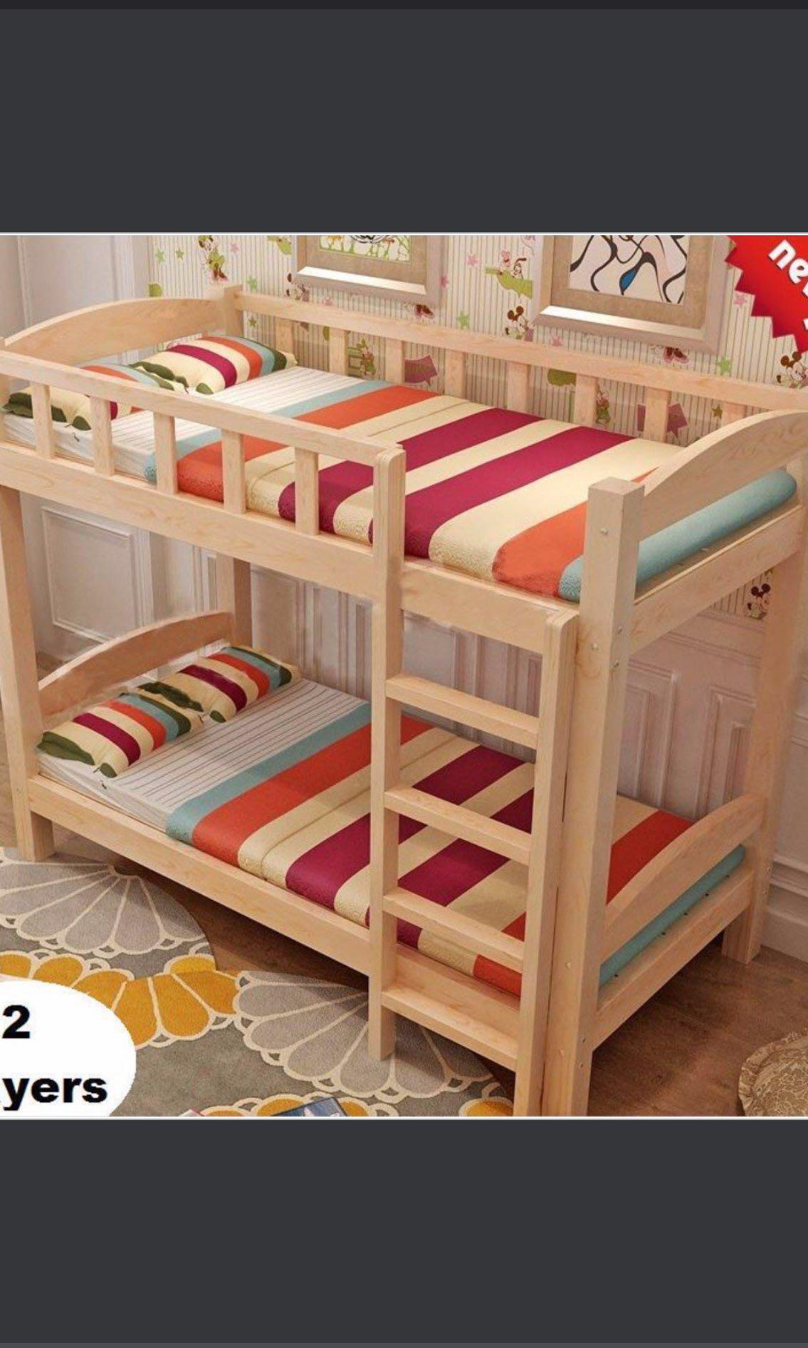 Preorder Bunk Bed Two Layers Bed Wooden Bed Frame Furniture Beds