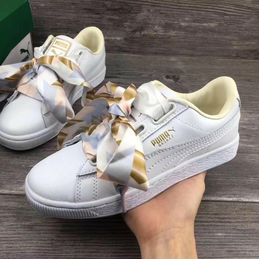 441ff7439a1f4 Puma Basket Heart Geo Camo, Women's Fashion, Shoes, Sneakers on ...