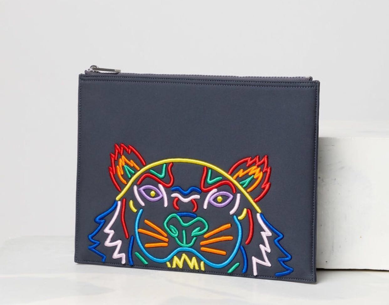 c57af9e399f Ready Stock   Kenzo A4 Tiger neoprene pouch , Luxury, Bags & Wallets,  Clutches on Carousell