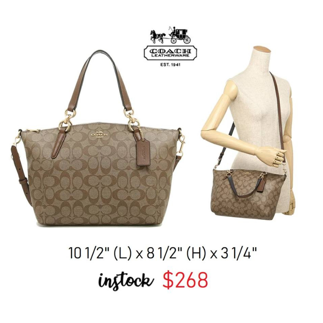 c65ee74a33c0 ... discount ready stock sg authentic new coach small kelsey satchel in signature  canvas f28989 luxury bags