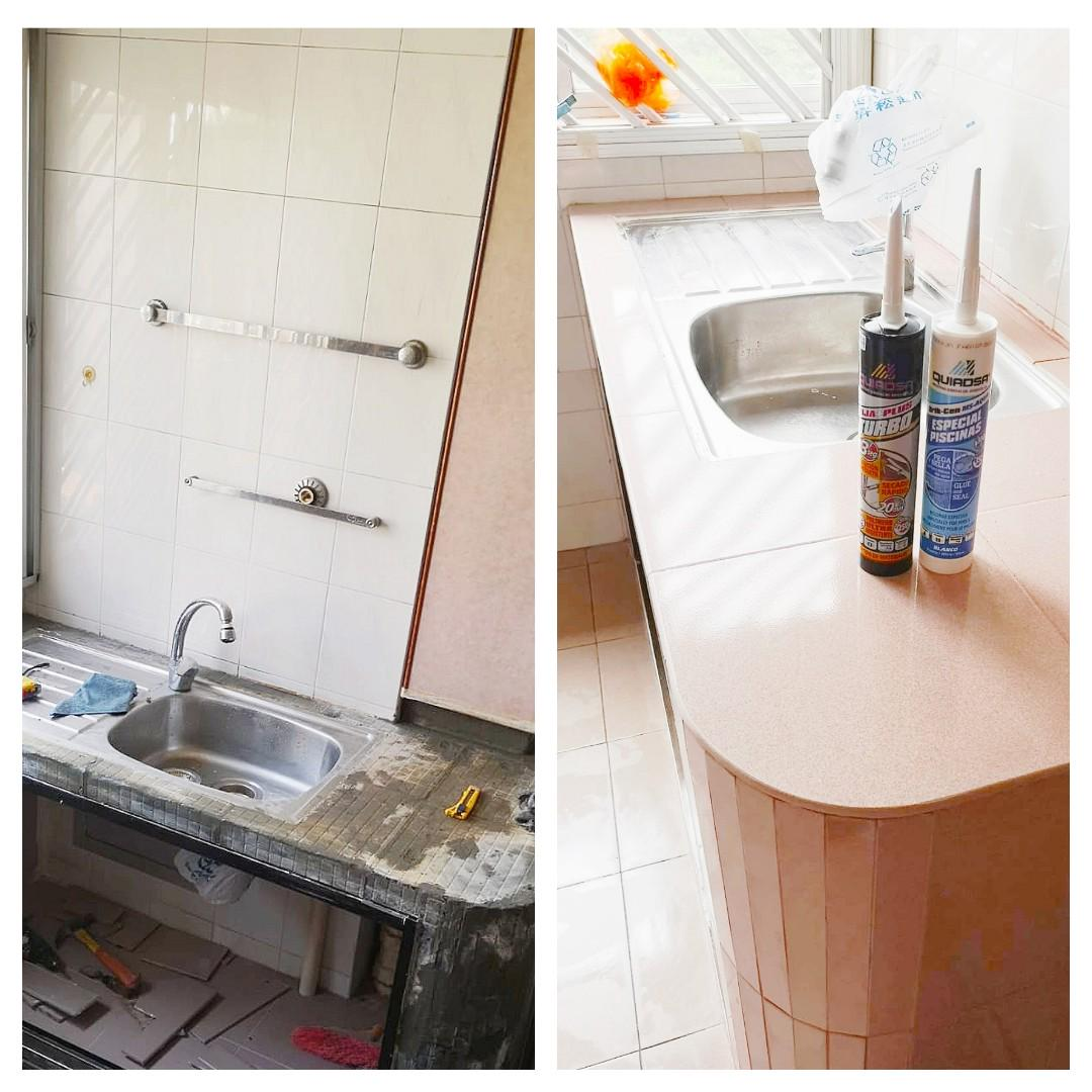 Turbo Aqua For Re Tiling Work Diy Able Home Services Renovations On Carousell